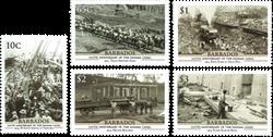 Barbados - Panamakanalen - Postfrisk sæt 5v