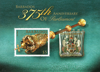 Barbados - 375 years of Parliament - Mint souvenir sheet