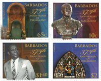 Barbados - 375 years of Parliament - Mint set 4v