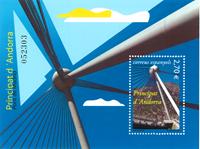Spansk Andorra - Madrid broen - Postfrisk miniark