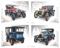 Switzerland - Vintage cars - Mint set 4v