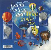 Belgien - Luftballoner - Postfrisk ark