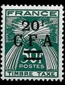 La Réunion - YT portomærke nr. 43 postfrisk