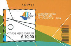 Cypern - EU formandsskab - Postfrisk miniark