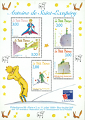 France - The little Prince - Mint sheetlet