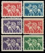 Sverige 1932 Lützen komplet postfrisk