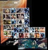 Great-Britain - Star Wars - Composition :1 set, 1 mint souvenir sheet, 1 Smilers