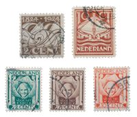 Netherlands year 1924 - Cancelled