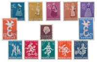Netherlands year 1958 - Cancelled