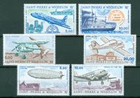 Saint-Pierre & Miquelon - Yearset  Airmail 1987-1990 - Mint - YT PA64/69