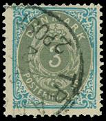 Denmark 1875 - AFA no. 22 - Cancelled