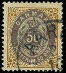 Danmark 1875 - AFA nr. 30y - Stemplet