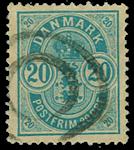 Danmark 1882 - AFA nr. 33 - Stemplet