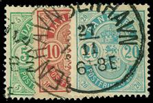 Danmark 1884 - AFA nr. 34-36 - Stemplet