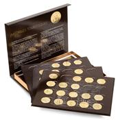 PRESSO kassette til 80 franske seværdighedsmedaljer, inkl. 4 indsatser