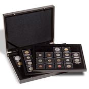 Presentation case for 60 QUADRUM coin capsules, black, 3 trays