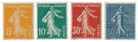 France 1921-22 - YT 158/61 - Unused