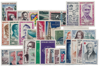 Frankrijk 1959 - selectie uit Yvert 1189/1229 -  Postfris