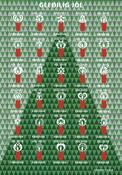 Færøerne - Juleark 2015 - Julemærkeark takket
