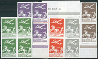 Denmark - Airmail - 4-block