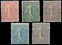 France 1903 - YT 129-33 - Unused