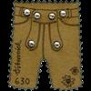 Østrig - Læderbukser - Postfrisk miniark af læder med swarovski krystaller.