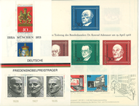 Western Germany - 22 mint souvenir sheets