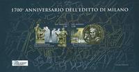 San Marino - 1700 years of the edit - Cancelled souvenir sheet