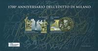 San Marino - 1700 years of the edict - Mint souvenir sheet