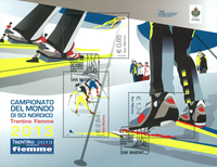 San Marino - Nordic ski World Cup - Cancelled souvenir sheet