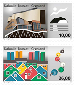 Greenland - Architecture II - Mint set 2v