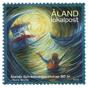 Åland Islands - Sea rescue - Mint stamp
