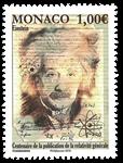 Monaco - Albert Einstein - Postfrisk frimærke