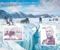Monaco - MonacoPhil 2015 - Mint sheetlet