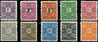 Elfenbenskysten - Portomærker YT 9-18
