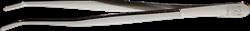 Tweezers 21, Standard, 12 cm, design: curved, narrow