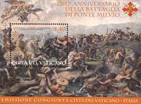 Vatican - 1700 years Battle Ponte - Mint souvenir sheet