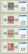 Færøerne - Frankeringsetiketter - Postfrisk sæt 4v