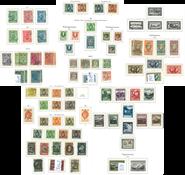 Liechtenstein - Samling i KABE-fortryksalbum 1912-1992. Næsten komplet