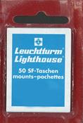 Leuchtturm klemlommer - 41 x 30 mm - glasklar - 50  stk.
