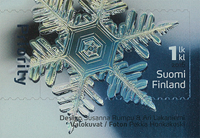 Finland - Ice crystal - Mint stamp