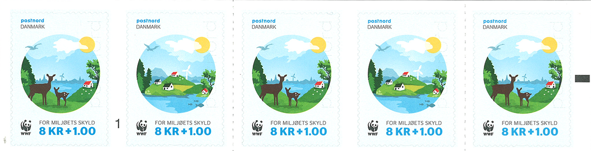 Danmark - WWF 2016 - Postfrisk 5-stribe
