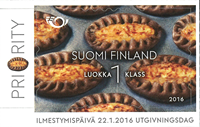 Finland - Karelian pastry - Mint stamp