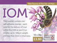 Isle of Man - Bees - Cancelled booklet national franking rates