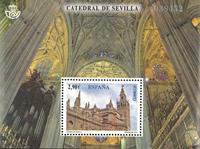 Spanien - Sevilla katedralen - Postfrisk miniark