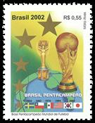 Brasilien - Fodbold VM - Postfrisk frimærke