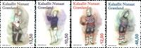 Grønland - Kvindens nationaldragter - Postfrisk sæt 4v