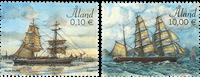 Åland - Sejlskibe - Postfrisk sæt 2v