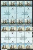 Åland - Sejlskibe - Postfrisk sæt gutterstriber