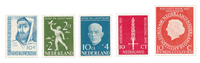 Netherlands 1954/55 - NVPH 646/48, 654, 660 - Mint